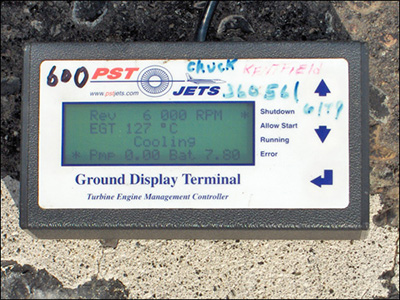 Ground Display Terminal (GDT) Readout: Engine Cooling