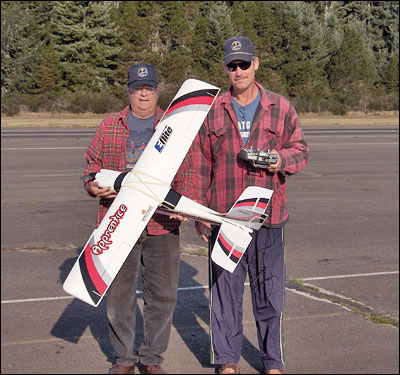 Royce With Trainer and Flight Instructor Bob Beatty